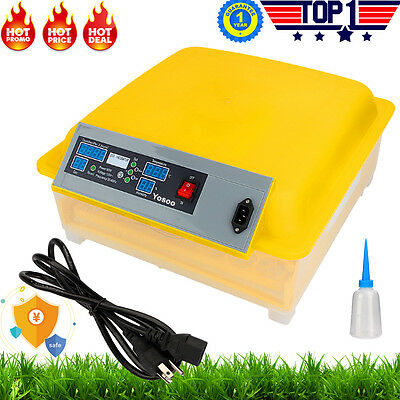 Farm Automatic Digital Chicken Egg Incubator 10 12 24 48 96 Egg Poultry Hatcher