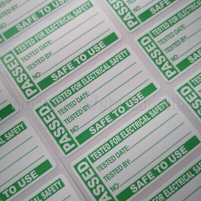 100 x PAT Test Passed Labels / Stickers FREE UK p&p