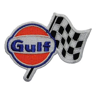 Gulf Racing Embroidered Cloth Emblem Badge Patch