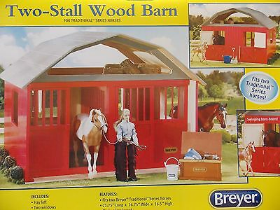 Breyer~Traditional Series~Two -Stall Wood Horse Barn ~New