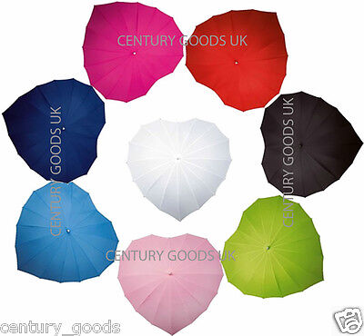 Wedding Heart Shape Umbrellas Also Suitable For Valentines,Fathers Day,Birthdays