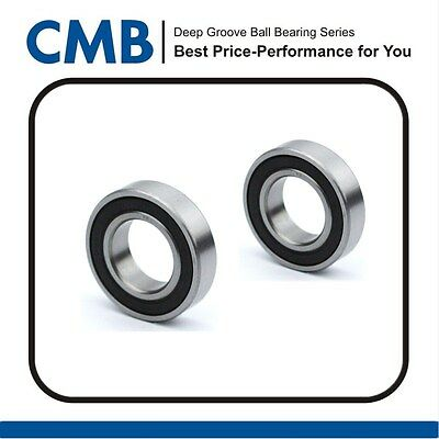 2pcs 6004-2RS Deep Groove Rubber Sealed Ball Bearing 6004 2rs 20x42x12mm