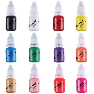 OPHIR Airbrush Ink Acrylic Nail Art Paint Fingernail Decorate Pigment 19 Colors