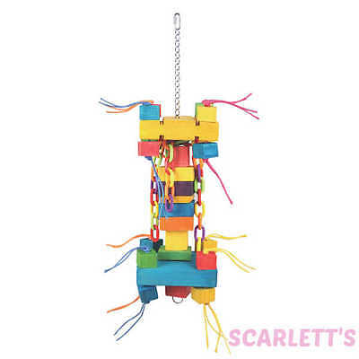 Chunky Chain Toy Extra Large Parrot Toy with wood
