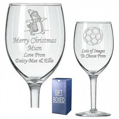 Engraved Wine Glass Uncle Auntie Grandma Christmas Birthday Gift 073