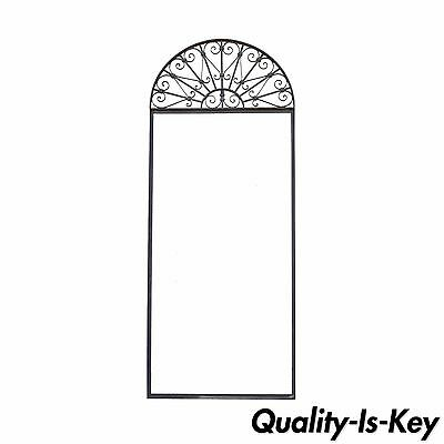 Vintage Ornate Wrought Iron Door Arch Frame Patio Garden Element B 98 x 39