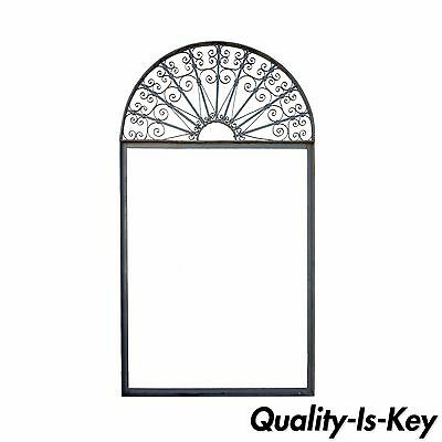 "Vintage Ornate Wrought Iron Door Arch Frame Patio Garden Element 96"" x 52"""