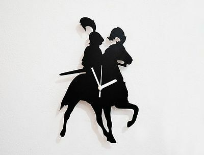 Knight on Horse Silhouette - Wall Clock