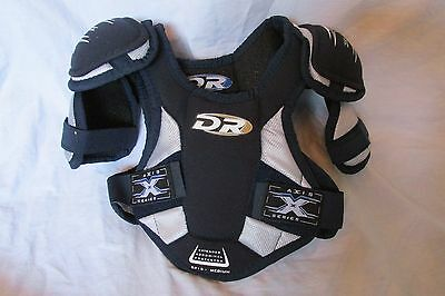 New DR Axis Series Youth/Junior Ice Hockey Chest Pad Protector Medium Blue/Black