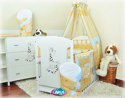 FREE DELIVERY 22-part set: cot with drawer + mattress + kids bedding sets