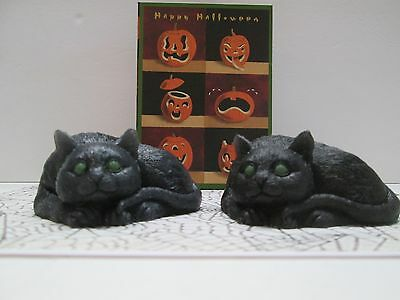 Set Of Two Lucky  Black Cat Soaps