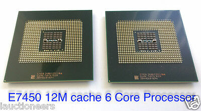 Matched Pair Intel Xeon E7450 2.40GHz Six-Core Processor 604p 12M 1066 SLG9K CPU
