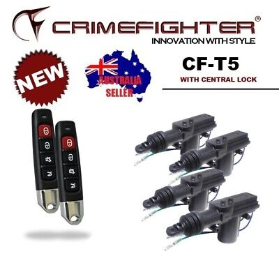 CRIMEFIGHTER CF-T5 Universal 1 Way Basic Car Alarm System w/ Central Locking Kit