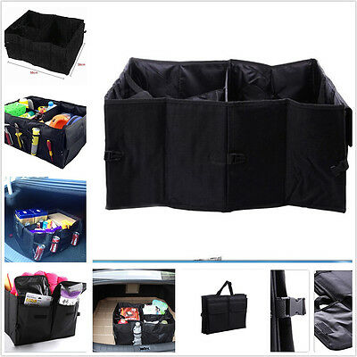 Car Foldable Storage Bag Box For Cleaning Supplies Maps Emergency Gear Groceries