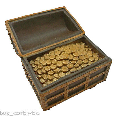 Treasure Chest Trinket Box with Coins 1:25 Doll's House Dollhouse Miniature