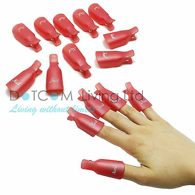 10 Wearable Soaker Wrap Cleaner Clip Cap Gel Polish Remover UV Acrylic Nail Art