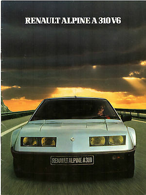 Renault Alpine A310 V6 1981-82 French Market Sales Brochure