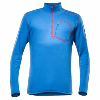 Devold Optimum Zip langarm Herren-Merinoshirt (royal)