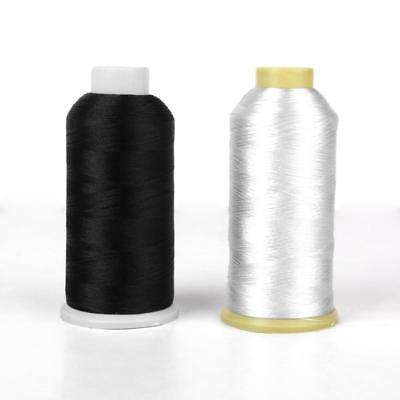 2X 5000M Embroidery Sewing Machine Industrial Polyester Thread Metre Cone