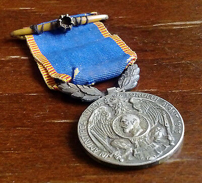 Royal Medal from 1913 for Romanian fighters in 2nd Balkan War Southeast Europe