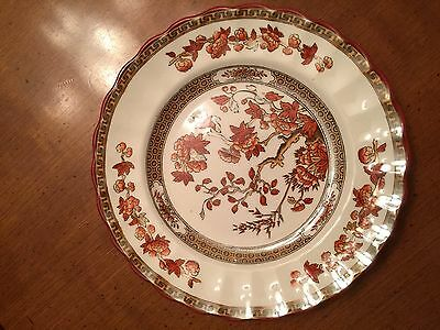"""Spode china. India Tree design, Copeland Series. 7.5"""" Salad plate. rust colored."""