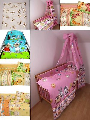 2/3 Piece Bedding Set Nursery Baby Cot Duvet Cover Pillowcase Bumper Muslin