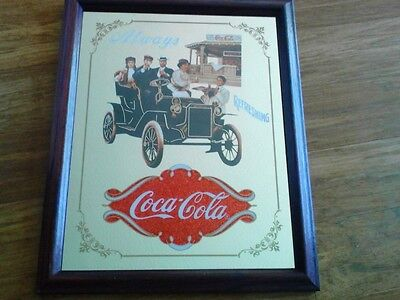 """Collectible Coca-Cola  Image Of 1939 Cardboard Sign """"through The Years"""" Campaign"""