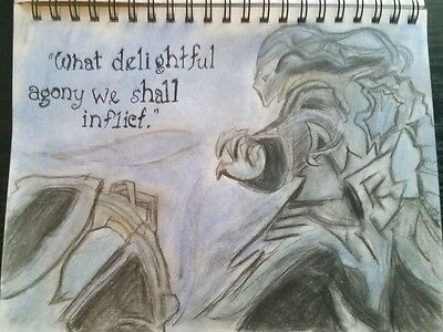 Championship Thresh Speed art Drawing   Charcoal and pastel