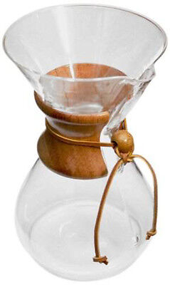 NEW Chemex Coffee Makers All Sytles - 3 6 8 10 Cup Classic or Glass Handle