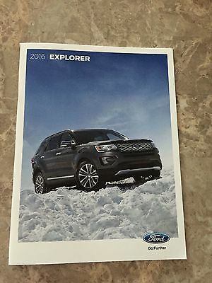 2016 Ford Explorer 36-page Original Sales Brochure