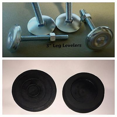 """Set of 4 Leg Levelers (3"""") AND 4 Rubber Feet **NEW** ~~FREE SHIPPING~~"""