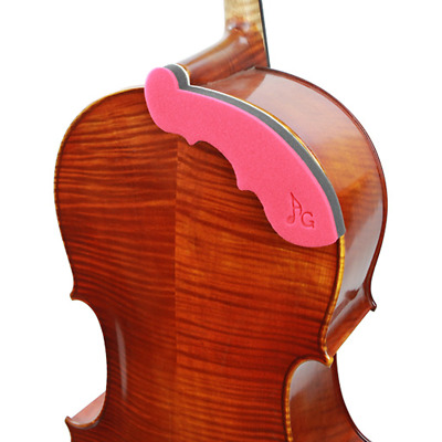 Acoustagrip Cello Chest Rest, A Comfort Rest For Cellists! Virtuoso Red 1/2-4/4