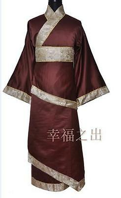 New Tradition Chinese Men's Ancient Prince Dramaturgic Robe Cosplay One Size