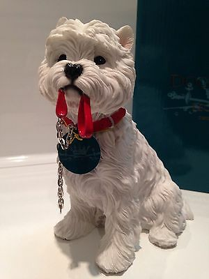"""Leonardo Collection Westie West Highland Terrier Dog Sitting With Lead """"Walkies"""""""