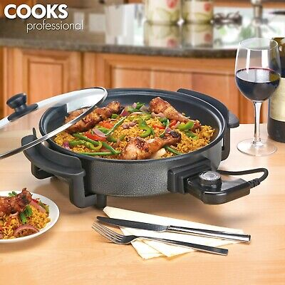 Cooks Professional 1500 Watt Electric 32cm Multi Cooker Non Stick Frying Pan