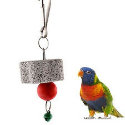 Bird Or Parrot Toy - Mineral Lava Stone - Hanging Cage Toy - Beak Health