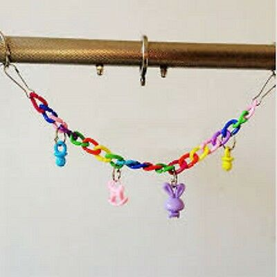 Bird Or Parrot Toy - Plastic Suspension Toy With Charms - Fun - Game - Cage