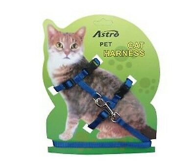 Cat Harness - Lead - Collar - Walk - Play - Cat - Kitten - Nylon - Strong