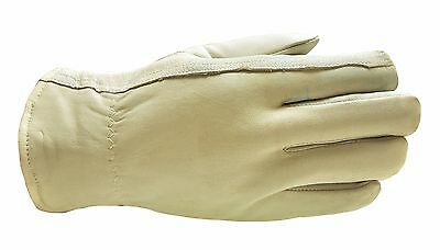 G & F 3031L Premium Goatskin Leather Winter Gloves Rayon Lining - 1 Pair Large