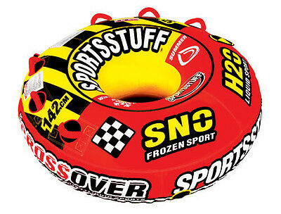 SPORTSSTUFF SUPER CROSSOVER Snow & Water Inflatable Tube for Summer & Winter Fun