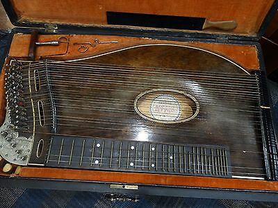 Antique Zither Lad. F. Propkop with Case
