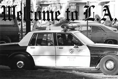 Welcome to LA Los Angeles LAPD Cop Flipping Off Middle Finger 24x36 Poster Print