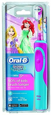 Electric Kids Soft Toothbrush Oral-B Stages Vitality Princess
