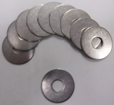 Flat Fender Washer 3/8 x 1-1/4 OD Stainless Steel 18-8-SS 304 Quantity 10