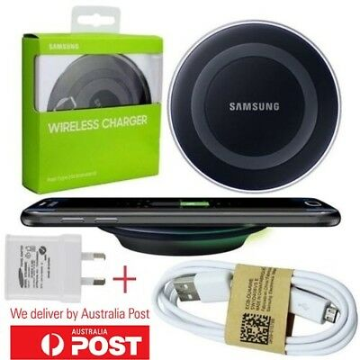 Genuine Samsung Wireless Qi Charger Charging Pad QI STANDARD Galaxy S6 S7 edge+