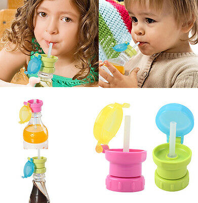 Baby Child Drink Sippy Cap Feeding 360 Rotating Spill Proof Straw Choke Tool ZOS