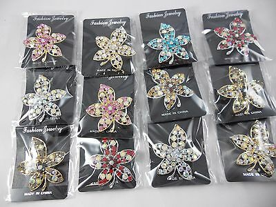 wholesale Lot of 12pcs pretty Vintage  Brooches/pin for Wedding .