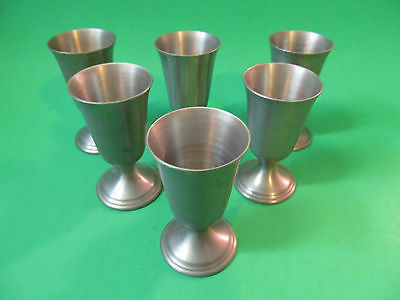 "Revere Pewter Goblets / Shotglasses 3"" Tall. 6 Total."