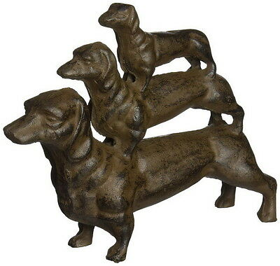 Vintage Antique Style Cast Iron Dog Dachshund Home Garden Outdoor Statue Decor