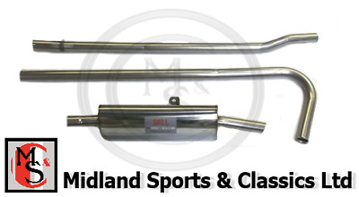 Bss-Mg-005 - Mg Midget & Sprite 1098 & 1275 - Stainless Steel Single Box Exhaust